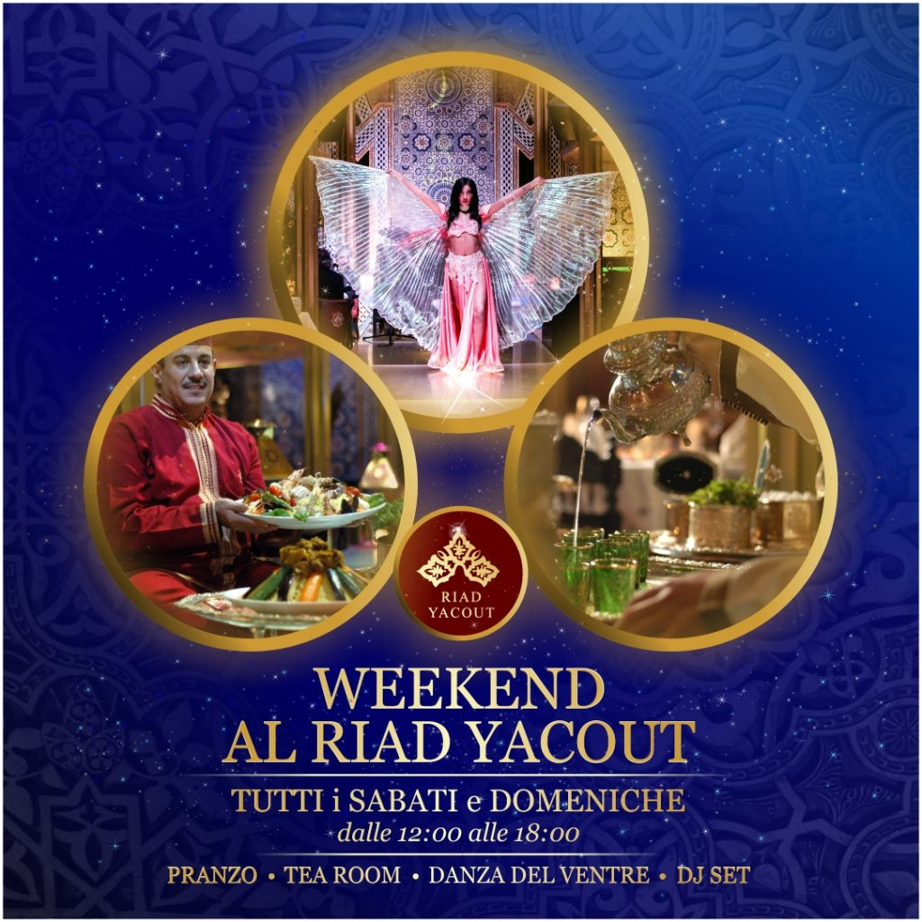 Locandina eventi sabato domenica Riad Yacout 2021